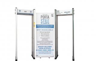 Walk through metal detector arches with fever detection & counting facility